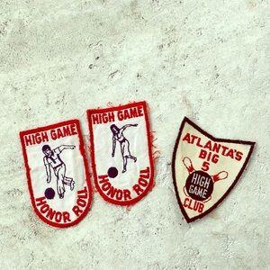 Vintage Bowling Patches Atlanta Club
